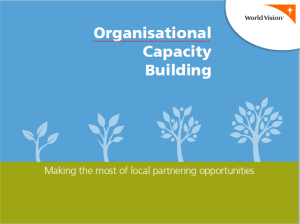 Organisational Capacity Building